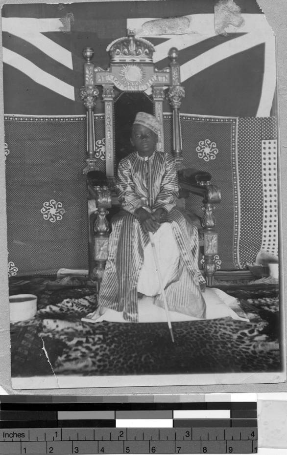 Source: 'Seven year old King on his throne, Uganda, Africa, 1898' (Photographs of the Catholic Foreign Mission Society of America, Maryknoll, New York, 1912-1945, International Mission Photography Archive, ca.1860-ca.1960)