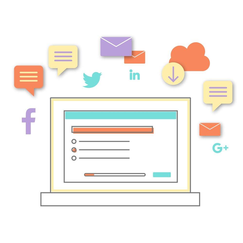 Sondage, questionnaire sur les réseaux sociaux