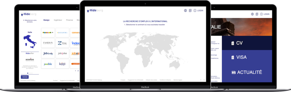 Startup Hideberg, plateforme mobilité et recherche d'emploi à l'international