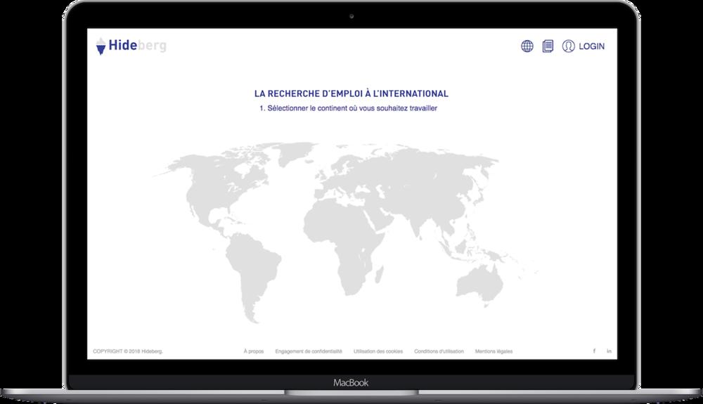 Startup Hideberg, plateforme mobilité internationale et recherche d'emploi