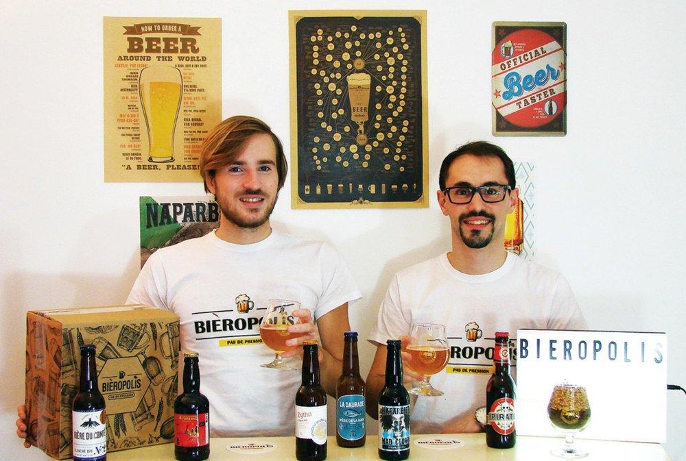 Thibaut Desseignes et Cédric Allin, fondateurs de la startup Bieropolis