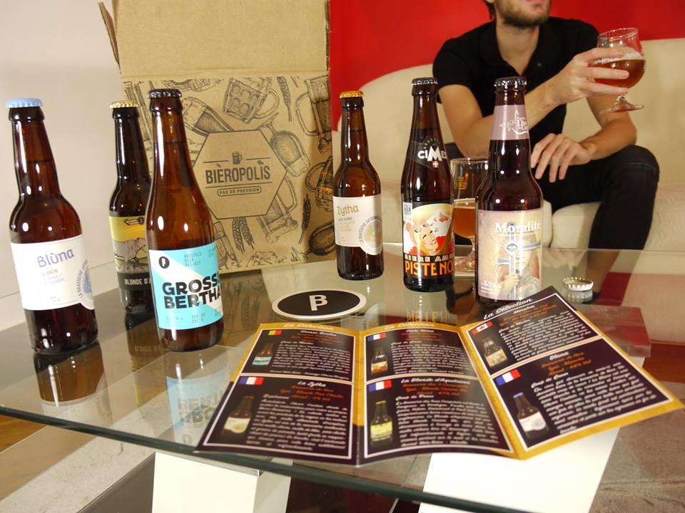 Dégustation de bières artisanales, sélectionnées et distribuées par la startup Bieropolis
