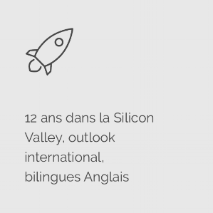 Icon expérience startups, Silicon Valley, bilingues anglais @agencefindly