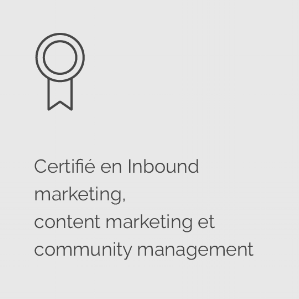 Icon certifications inbound marketing, content marketing et community manager @agencefindly