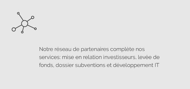 Icon réseau partenaires, levée de fonds, développement IT @agencefindly