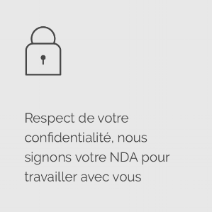 Icon respect de votre confidentialité, signature NDA @agencefindly
