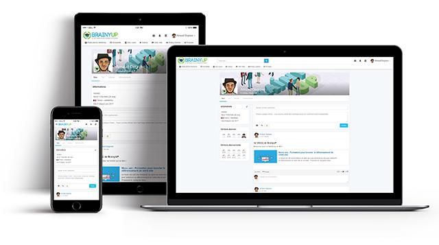 Plateforme de formations responsive, startup BrainyUP.