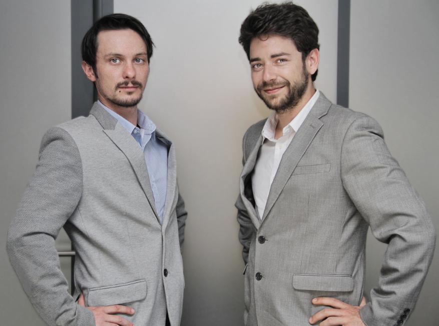 Arnaud Degrave et Lucas Grimont, co-fondateurs de la startup BrainyUP
