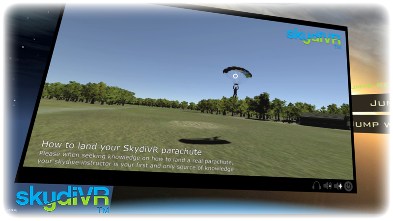 Our in-app TV screen playing a landing tutorial