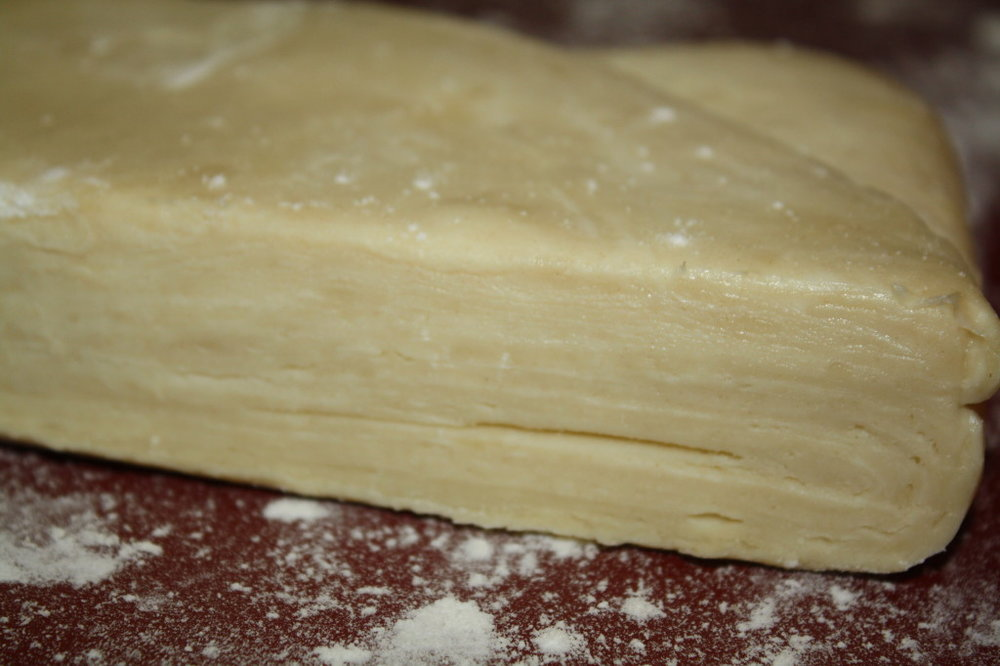 The many layers of croissant dough (look closely!)
