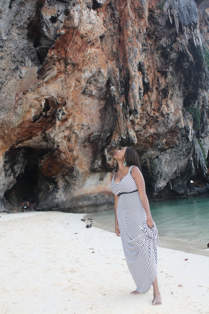 Looking up at Phranang Cave