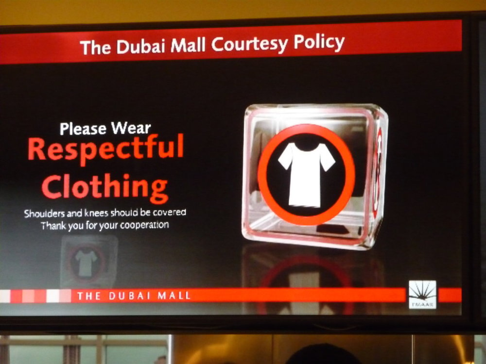Dubai Mall Dress Code