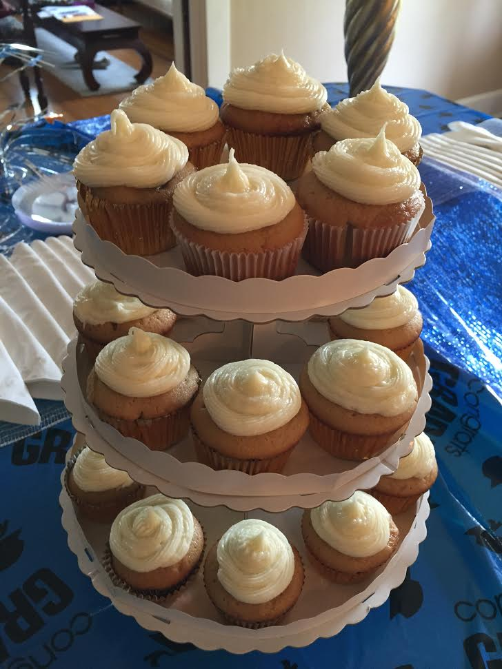 Brown Sugar Pound Cupcakes with Cream Cheese Frosting
