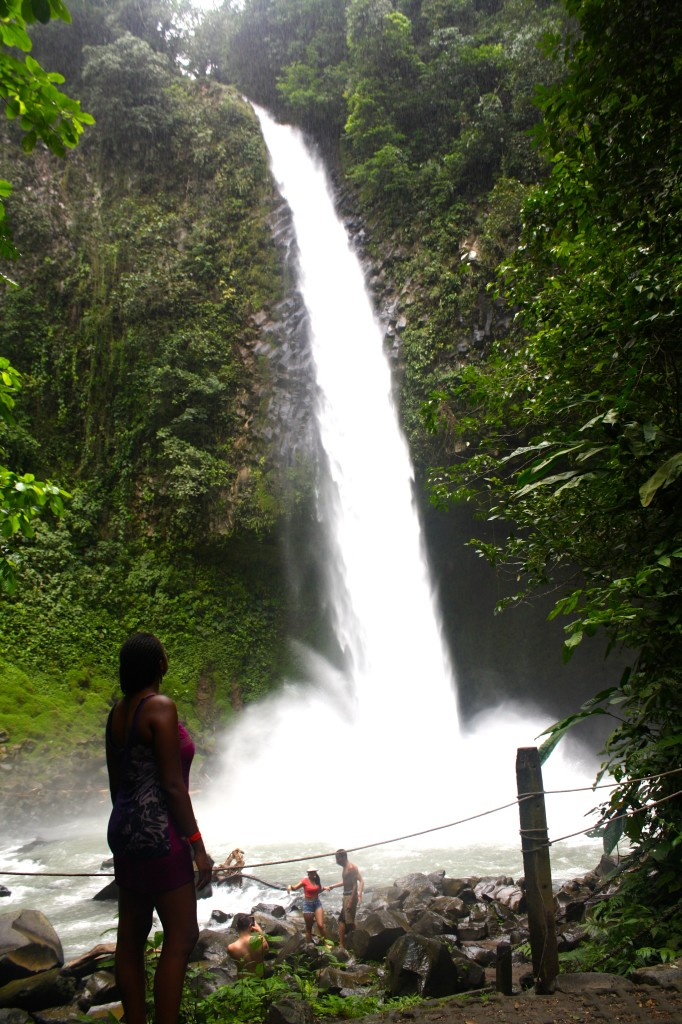 Gazing at La Fortuna Waterfall