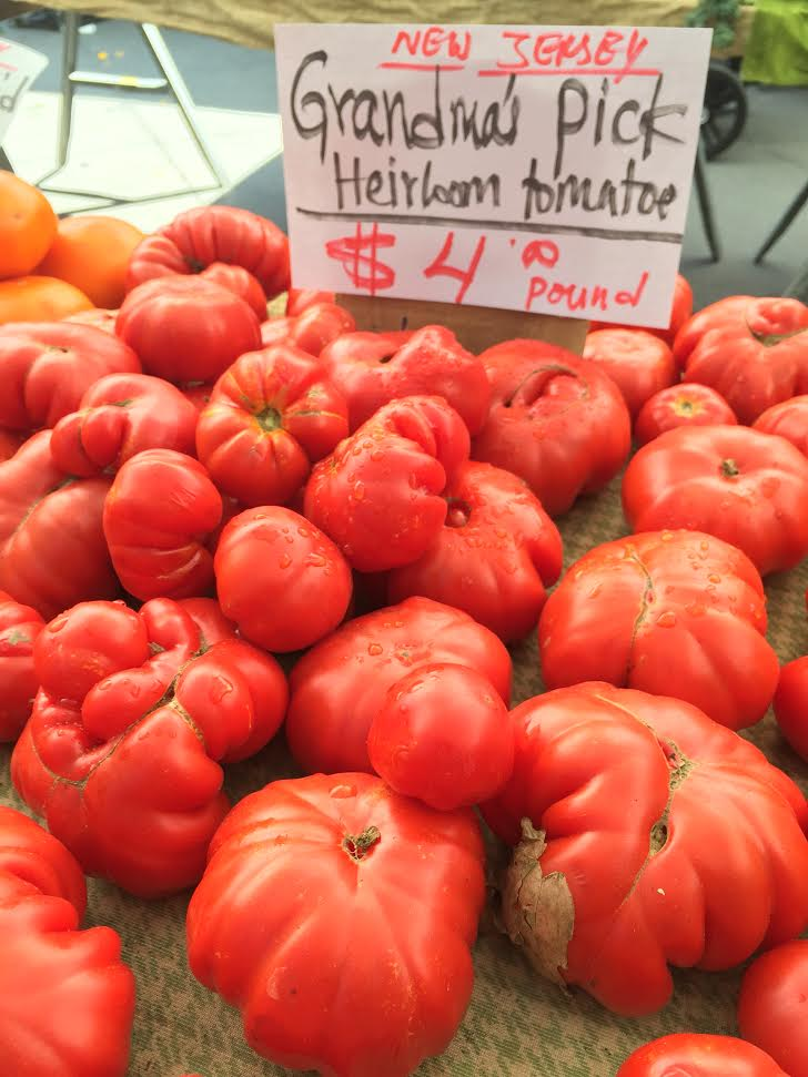 Grandma's Pick Heirloom Tomatoes at Tribeca Farmer's Market