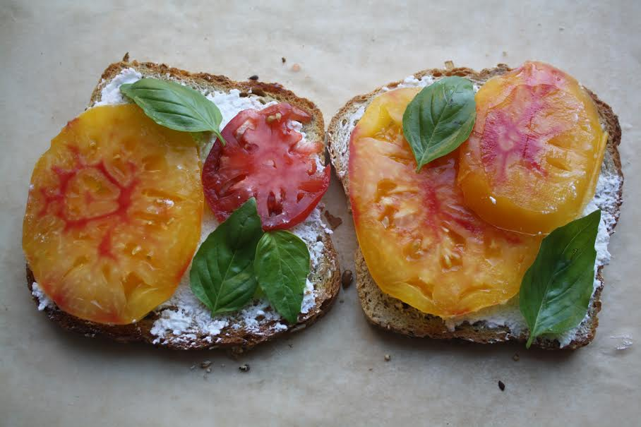 Heirloom Tomato Toast with Ricotta