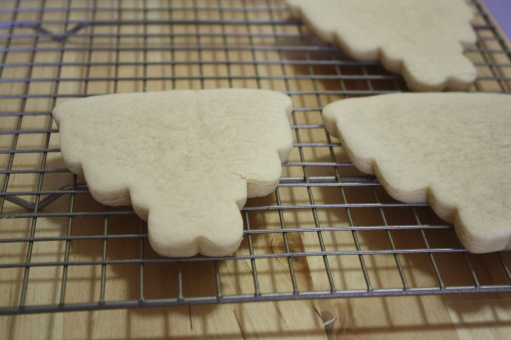 Allow the cookies to cool completely on a cooling rack before decorating.