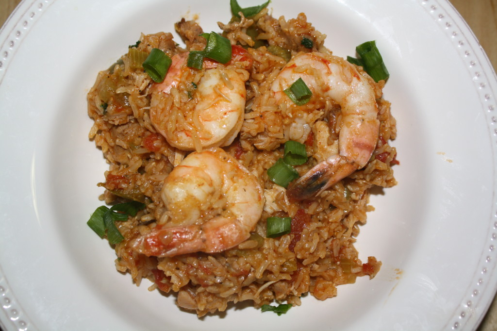 chicken sausage shrimp jambalaya