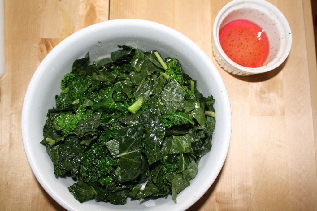 kale salad with vinaigrette