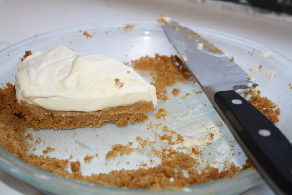 slice of caramel pie