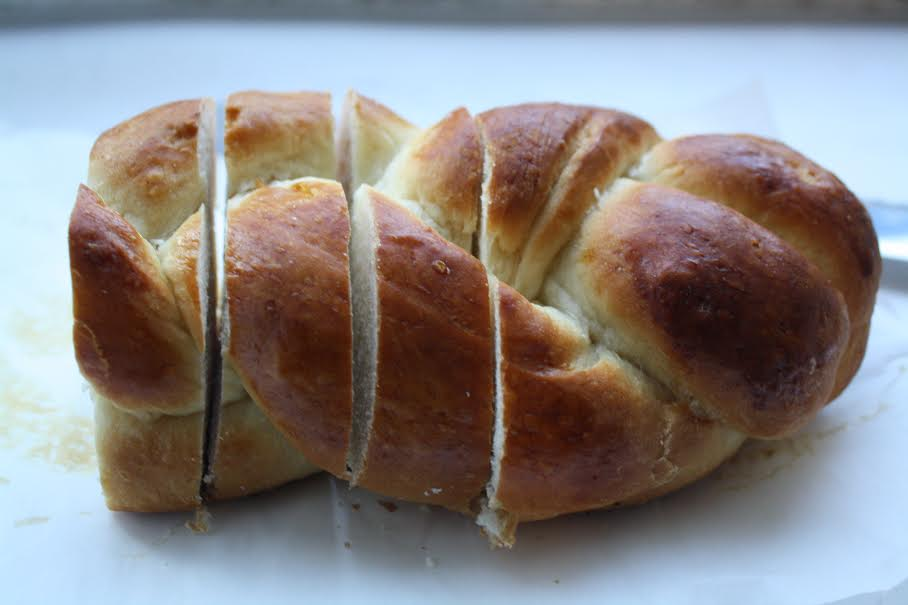 Reserved half loaf of challah