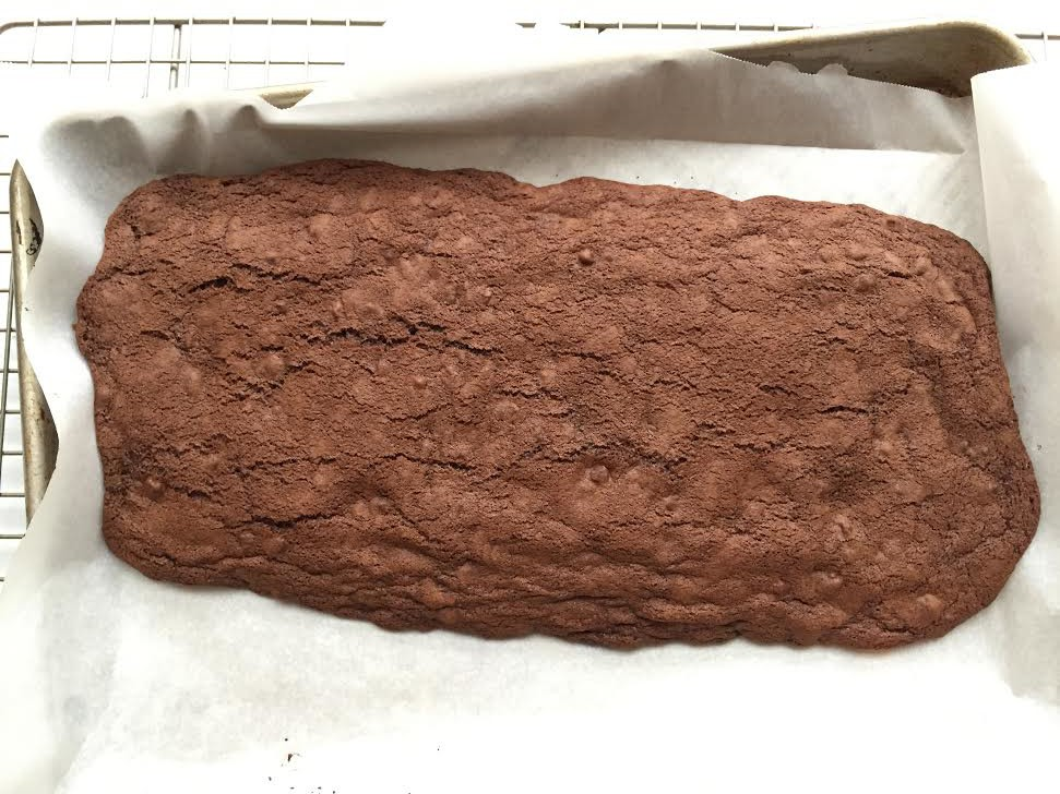 making chocolate biscotti