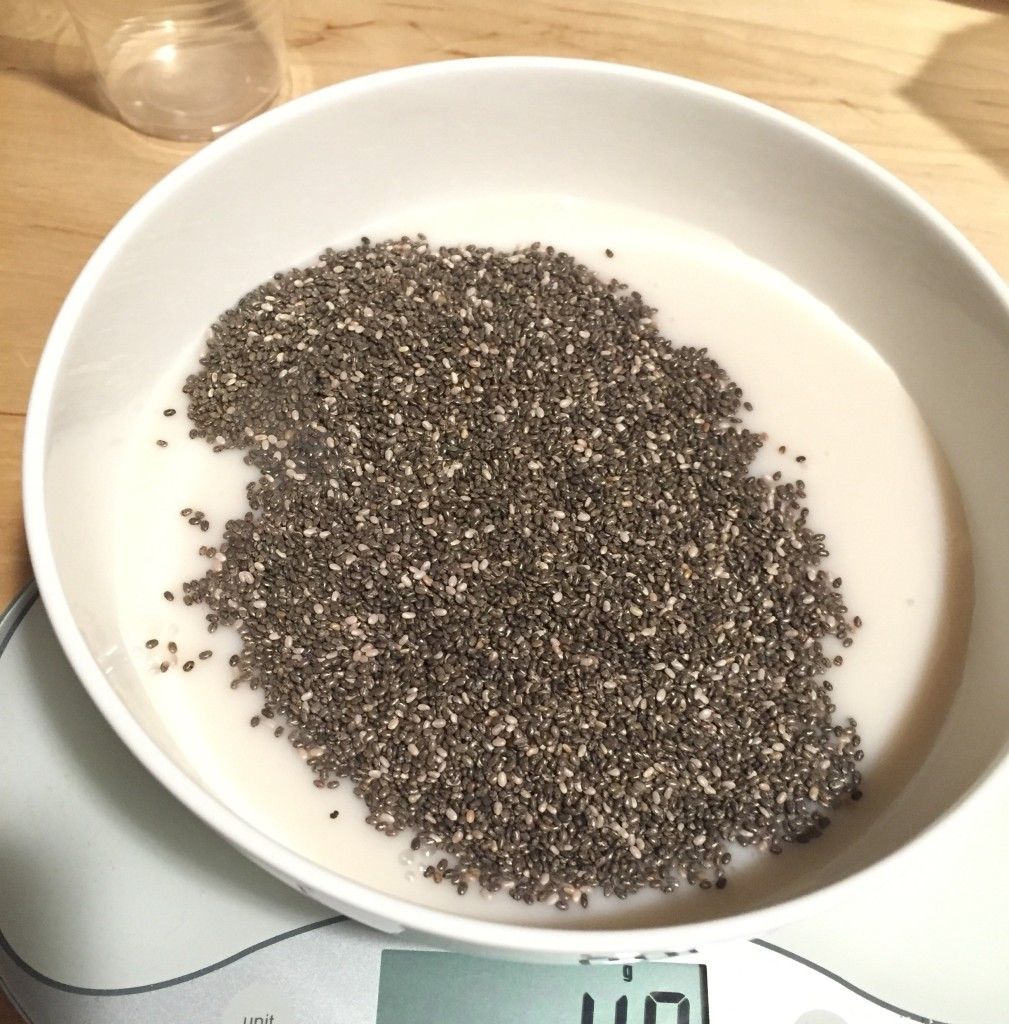 soaking chia seeds