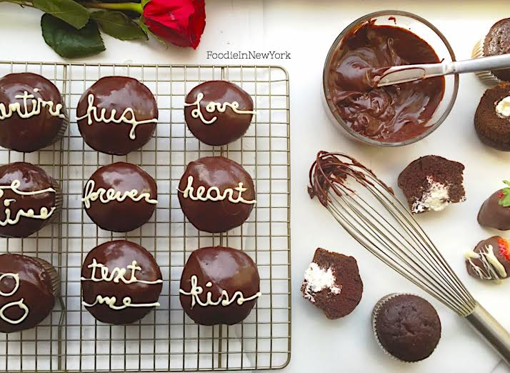 Love letter cupcakes