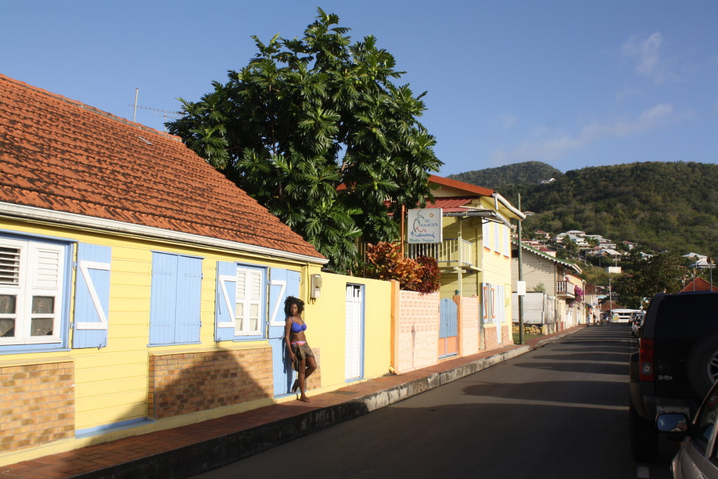 A colorful home in Petit Anse d'Arlet, just feet from the beach