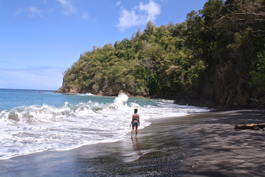 In awe of the waves at Anse de la Couleurve