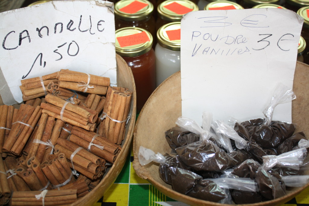 Spices for sale at the market.