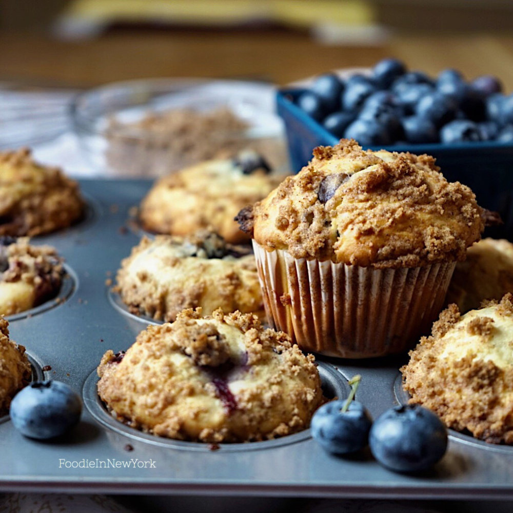 Ready to Eat Homemade Blueberry Streusel Muffins