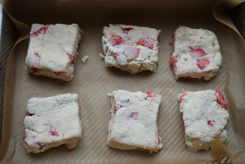 Finally, cut the rectangle into squares and arrange it on a baking sheet and bake until lightly browned.