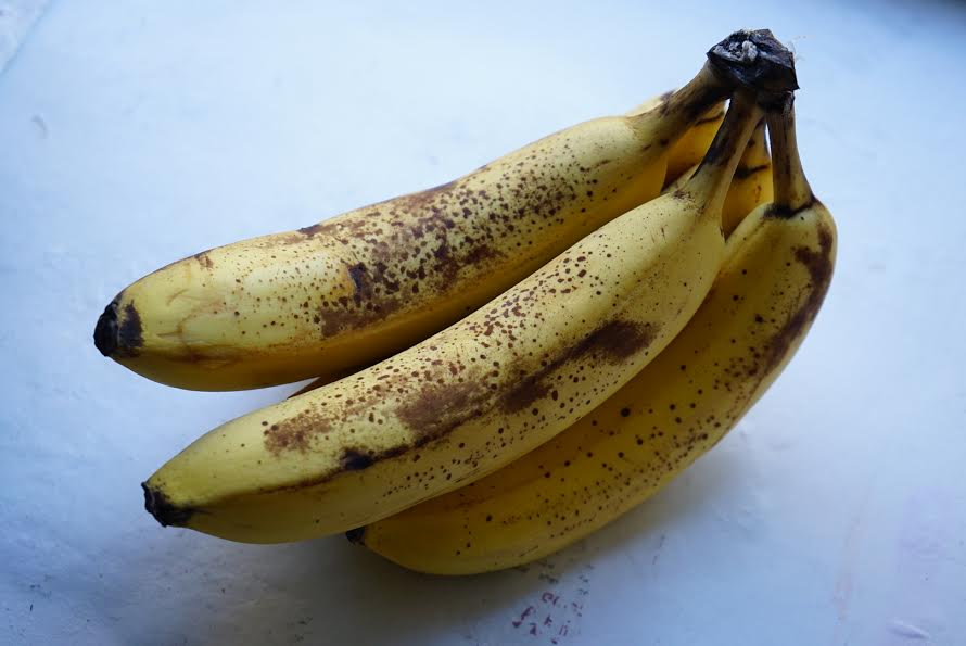 Only use ripe bananas when baking. They should be covered in dark spots.