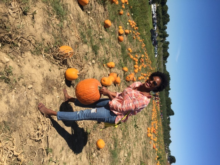 Hanging out at the pumpkin patch at Fishkill Farms