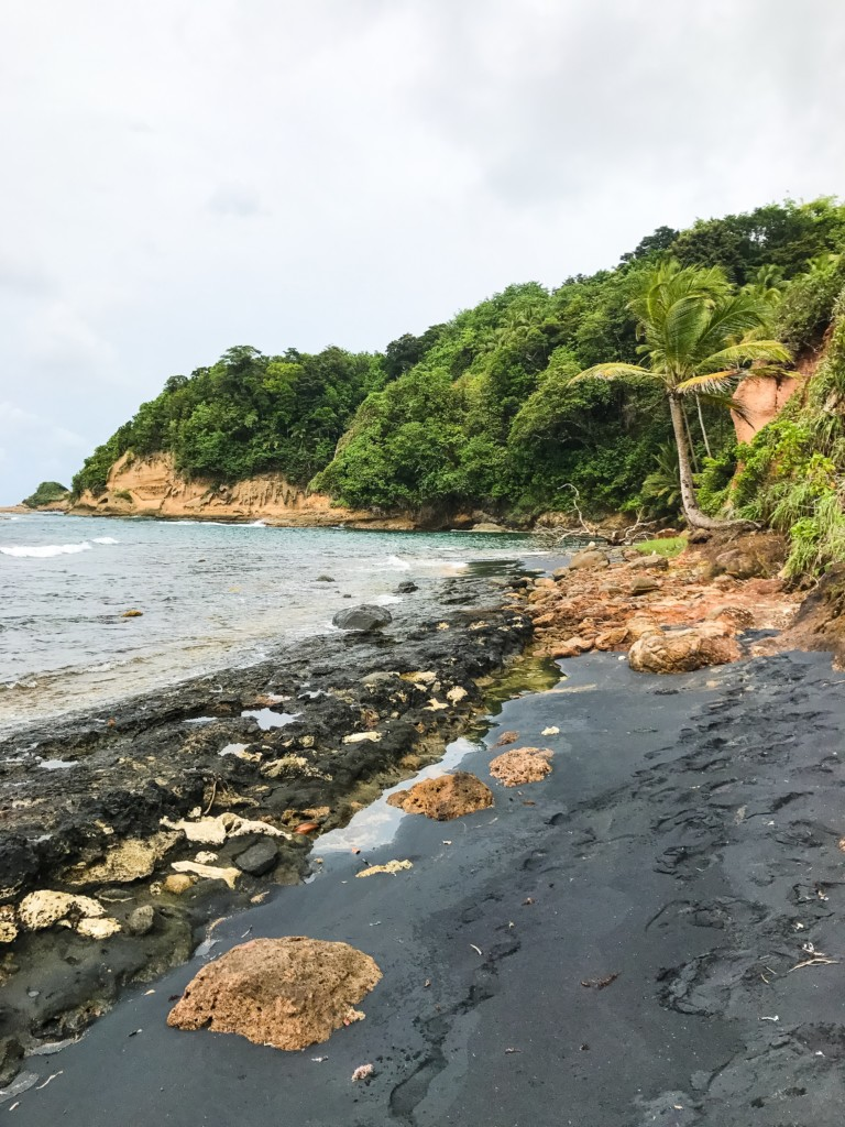 Black Sand Beach in Calibishe, Dominica
