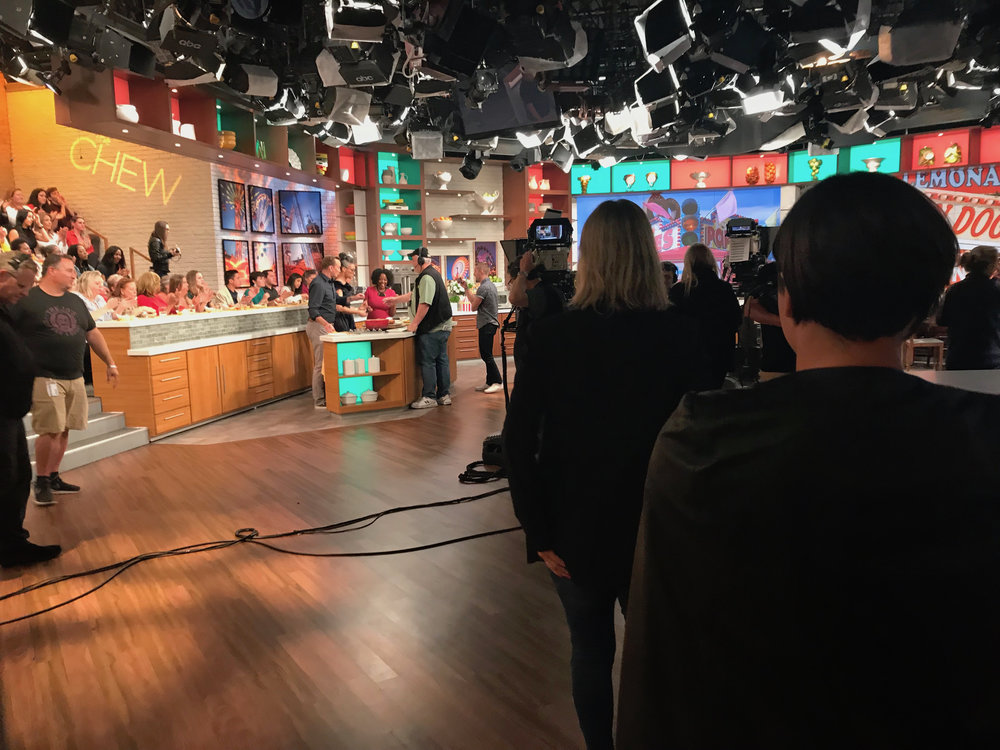 vallery lomas on set the chew.jpg