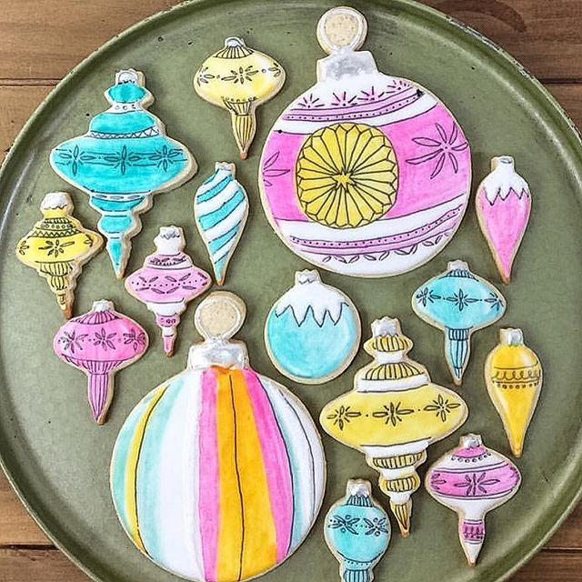 "How beautiful are these vintage ornament cookies? They are made by the talented Molly, @Kookiehouse, who was a fellow finalist on last season's Great American Baking Show & my BBF (Best Baker Friend)! It's so funny because on reality shows, you always hear people say ""I'm not here to make friends!"" My experience would not have been the same without her and some of the other contentants. It was an intense competition but we were all in it together. Swipe right to see more of Molly's creations— including her beautiful gingerbread chicken coop that never made it to the airwaves. #holidaybaking #kookiehouse#airtheepisodes @abcnetwork"