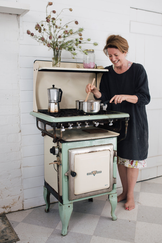 Gillian in the Tenterfield kitchen