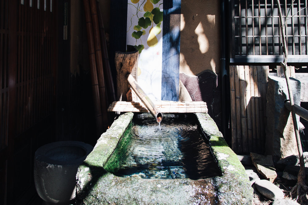 The thermal waters in the earth below the village of Kurokawa, on Kyushu island, Japan, are harnessed throughout the village for everyone's use. At this spot you could boil your eggs!
