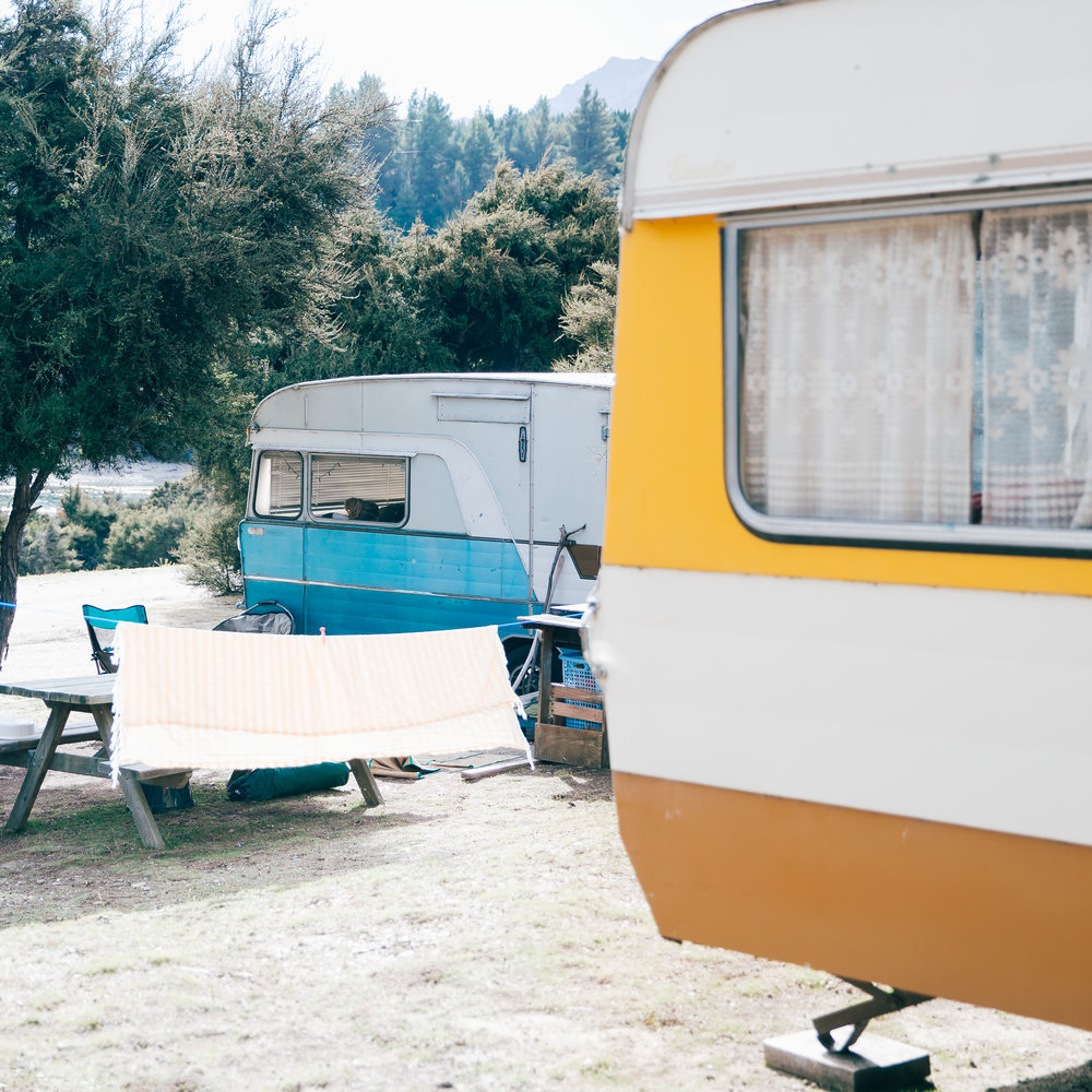 Gillian remembers her holidays in a bondwood caravan