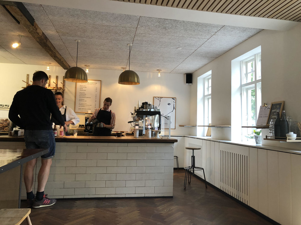 La Cabra coffee shop. This one's in the latin quarter, but there are so many lovely places to go in Aarhus.