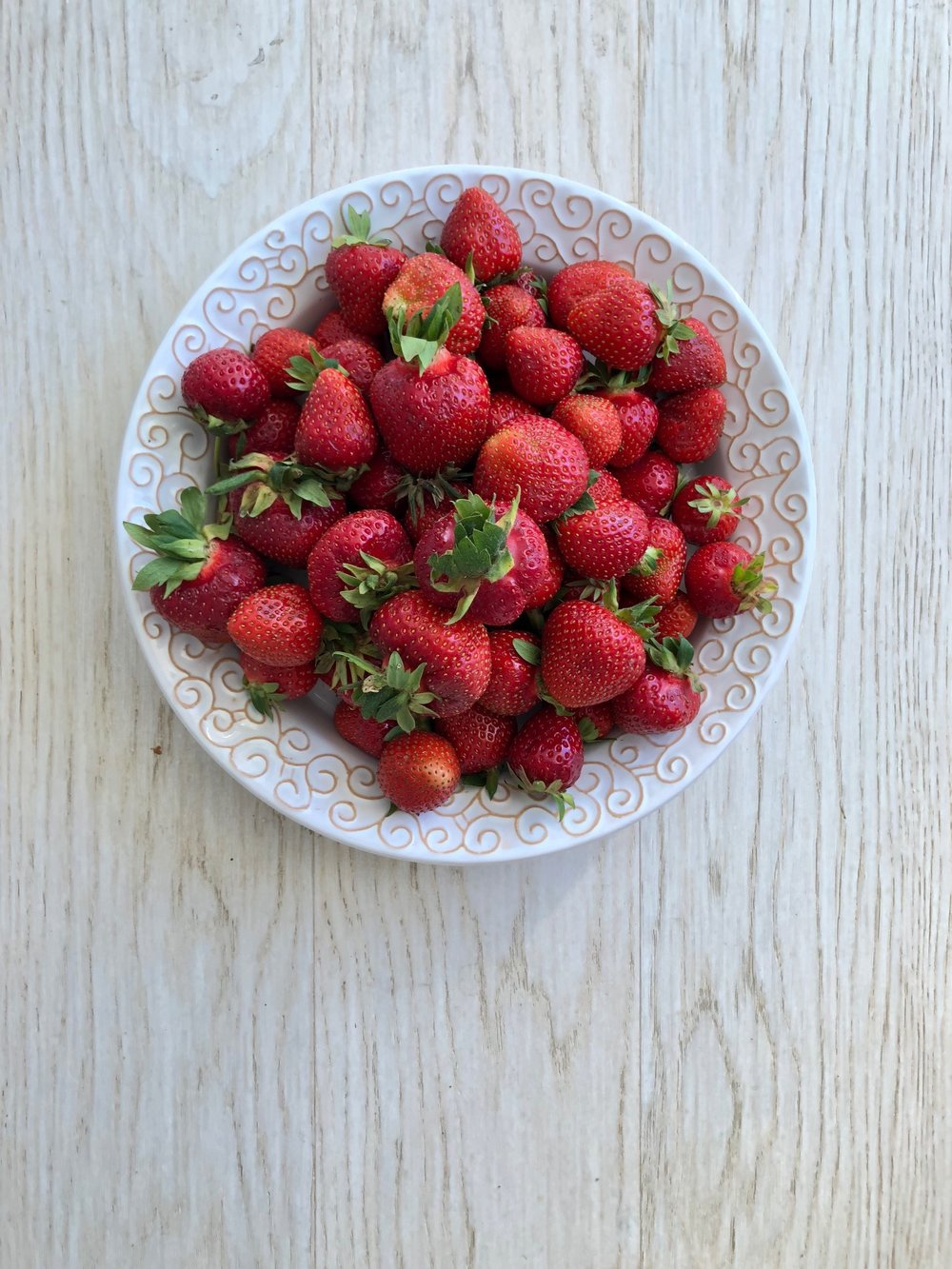 Locally-grown strawberries which are in abundance at this time of year.
