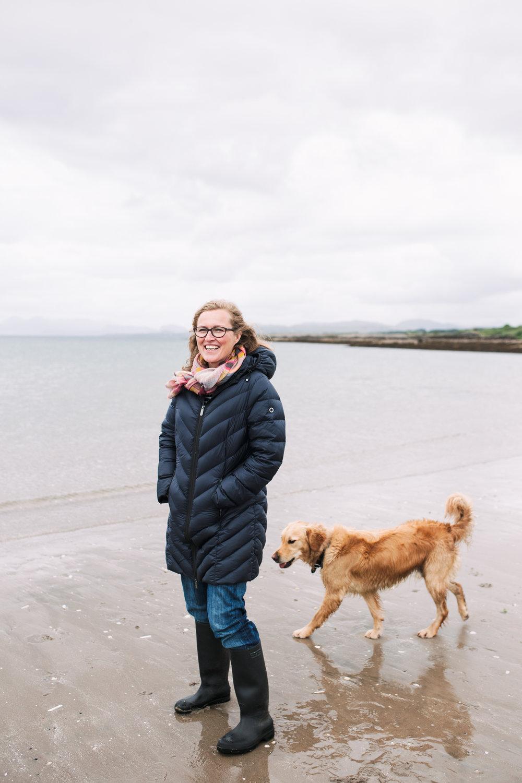 The beautiful Helena Emmans, an artist on the Isle of Skye