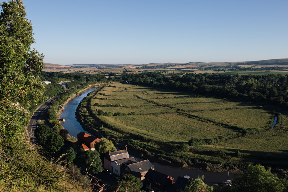 The River Ouse and the town of Lewes
