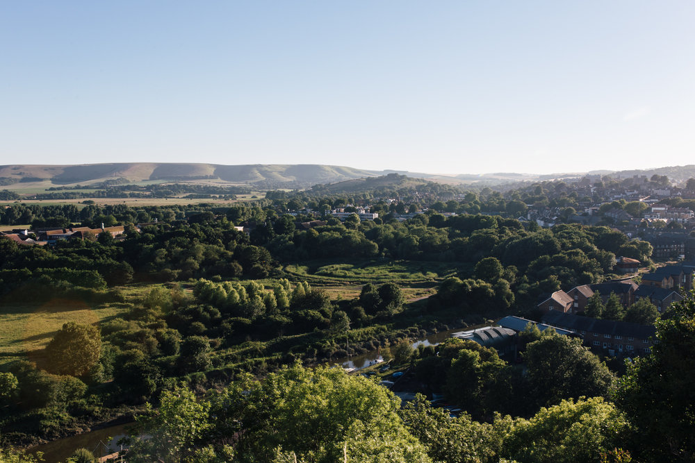 Overlooking the town of Lewes