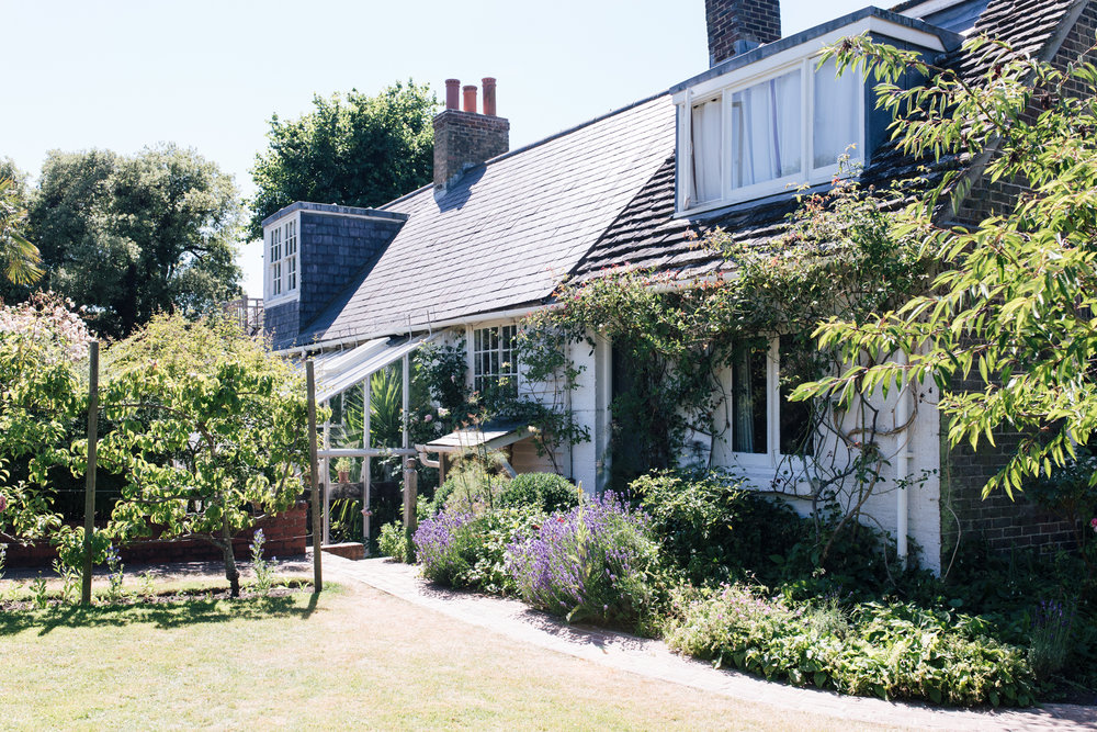 And then Monks House from the garden, looking back towards the house