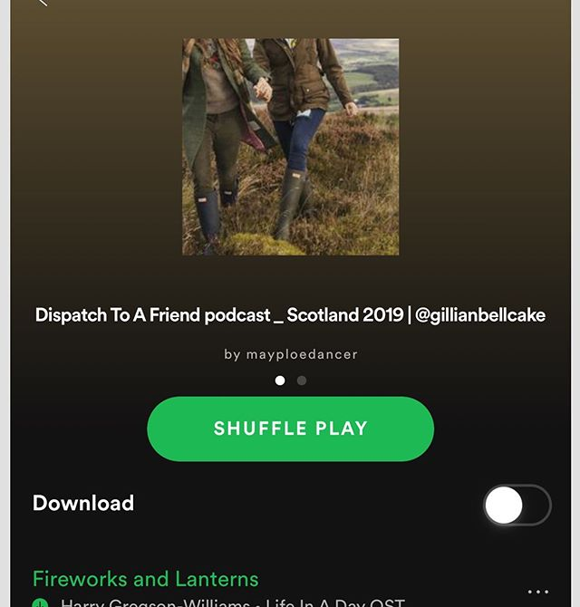 Sitting in the sunshine this morning making lists for Scotland and listening to our playlist on @spotify. Not long now! So excited. Xx
