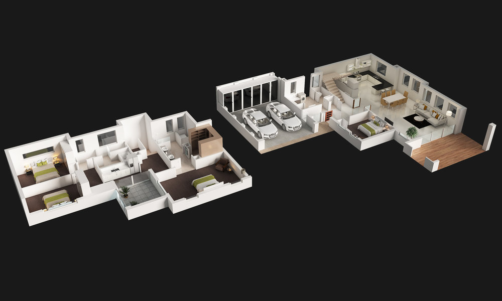 dollhouse view virtual render