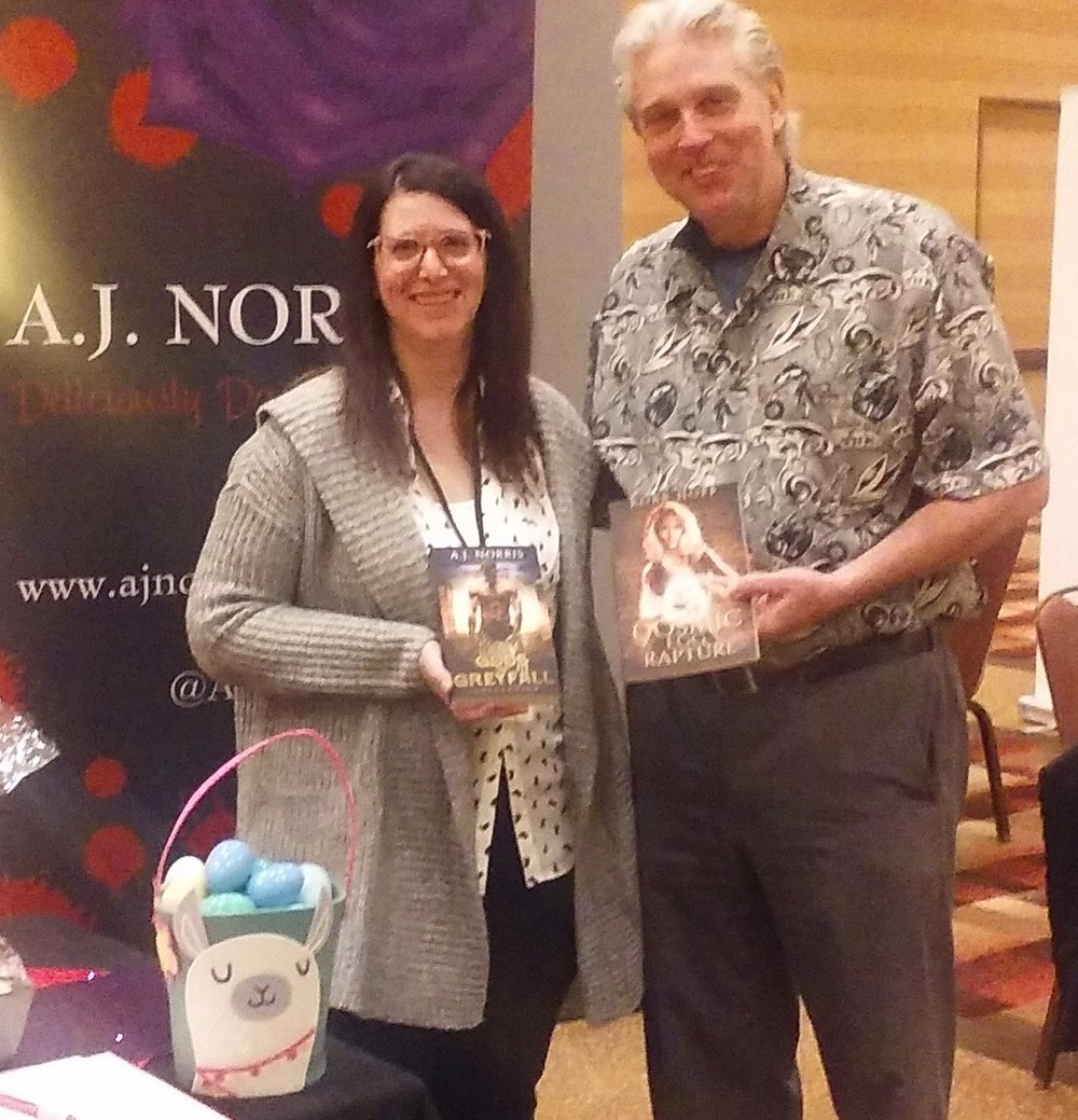 One of the best parts about participating in author signing events is meeting other authors and great people like A.J. Norris, who I had the pleasure to meet at the 2018 Books in Bourbon Country Author Signing Event in Louisville, Kentucky. Here's to the success of our new releases!
